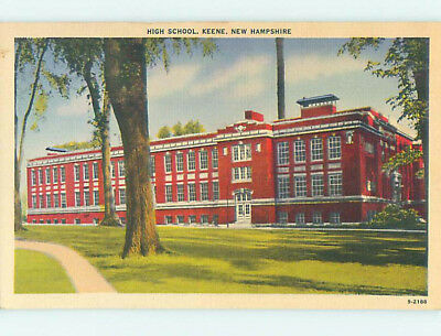 Unused Linen HIGH SCHOOL Keene New Hampshire NH L9991