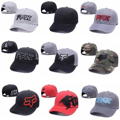 2017 Fashion Fox Racing Cap Men Boxed Snapback Trucker Hat Hip-Hop Adjustable AU