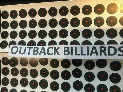"12 x POOL TABLE ""COOL SPOTS"" 12mm BLACK/Red Spots -WITH INSTRUCTION - SNOOKER"