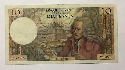 ✩✩FRANCE, 10 Francs, 10 F ''Voltaire'', 1973 GREAT ART GREAT NOTE!! #067✩✩MONEY