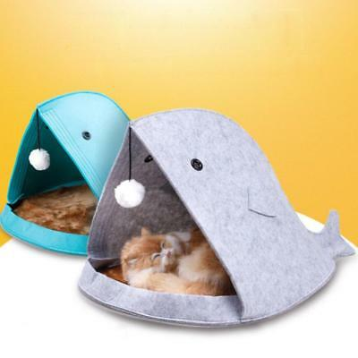 Shark Mouth Pet Dog Cat Puppy Warm House Soft Bed Kennel Cozy Nest Cushion Gift
