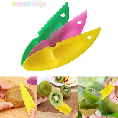 3Pcs Plastic Fruit Kiwi Gadget Kitchen Utensil Peeler Cutter Spoon Slicer Tools