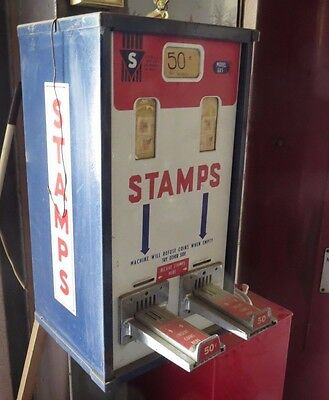 Vintage Postage Stamp Dispenser with Key By Hipman Manufacturing Model GX5