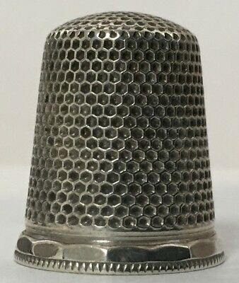 Ketcham & McDougall - Sterling Thimble with all Over Knurling - Size 9