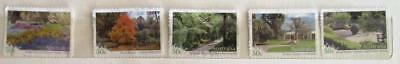 Australia 2007 Botanic gardens 5 P&S stamps, good used