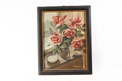 Beautiful Age Picture Frame Wood Frame with picture painted painting