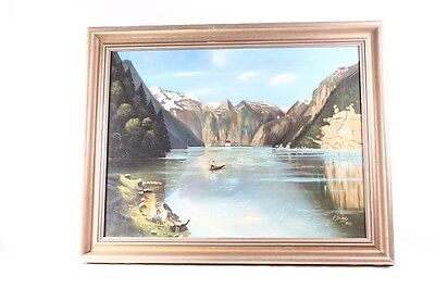 Beautiful Age Picture Frame Wood with Painting Königssee Frame