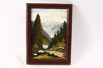 Beautiful Age Picture Frame Wood Frame with Picture Painting Painted
