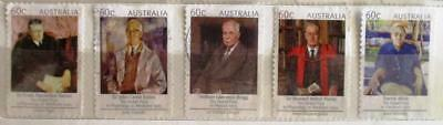 Australia 2012 Nobel Prize Winners 5 P&S stamps, good used