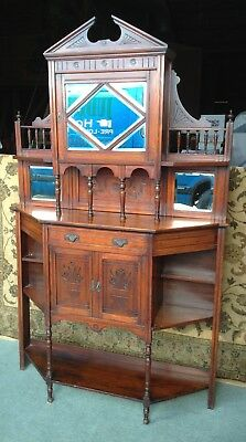 A Good Antique Mahogany Credenza Sideboard ~ Edwardian ~ Chiffonier