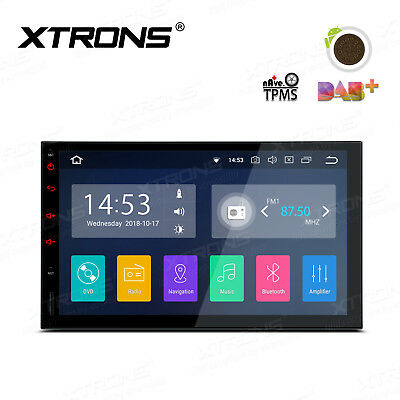 "XTRONS Android 8.1 Double DIN 7"" Car Stereo GPS Sat Nav DAB+ OBD2 WiFi 4G Radio"