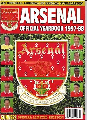 ARSENAL - Official Handbook 1997 - 98  *Excellent Condition*