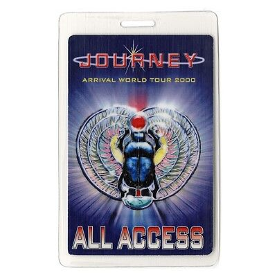 Journey authentic 2000 concert Laminated Backstage Pass Arrival Tour ALL ACCESS