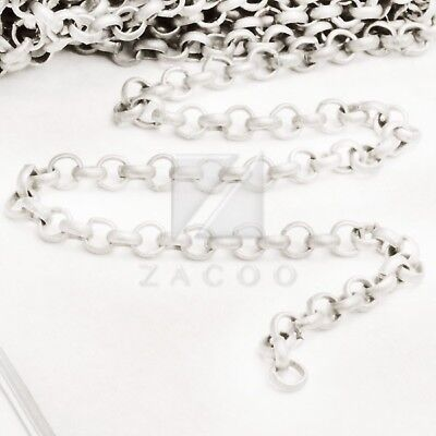 4M 13.12feet Unfinished Chains Necklaces Curb Chain 0.8x3x4mm 4 COLOR