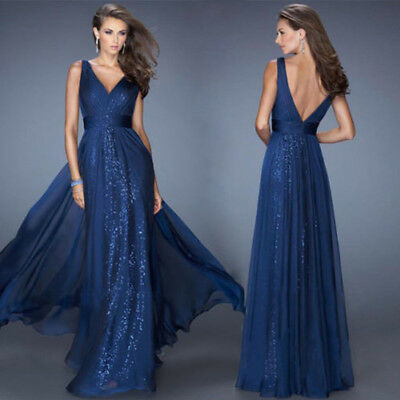 Vintage Long Wedding Ball Gown Evening Formal Party Prom Bridesmaid Women Dress