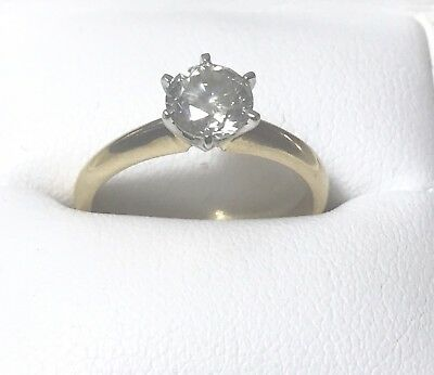 1ct Solitaire Diamond Ring In 18ct Yellow Gold With Valuation $7900
