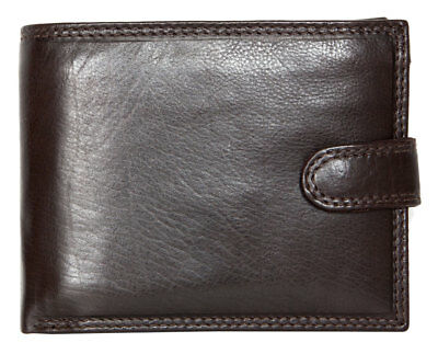 1280d2a32 Men's brown trifold genuine leather wallet without logos or markings. Fast  ship.