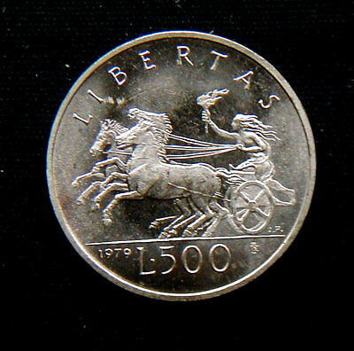 1979 SAN Marino (Italy) silver coin 500 Lire UNC PERFECT closed in official box