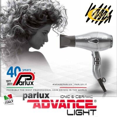 Phon Asciugacapelli Parlux Ionic e Ceramic Advance Light 2200 Watt - *Graphite*