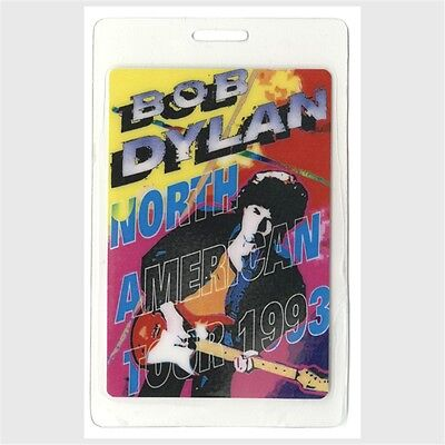 Bob Dylan authentic 1993 concert Laminated Backstage Pass North American Tour