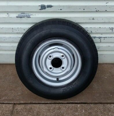 Mini Morris Minor Wheel 10 Inch Steel Rim & 5.20-10 Tyre - Boat Trailer Spare