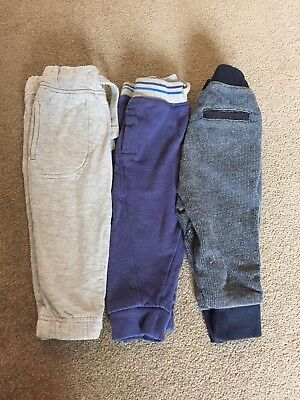 Bundle Baby Boys Jogging Bottom Trousers 9-12 Months Grey Blue Next Boots TU