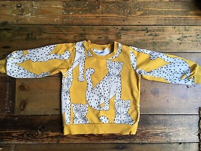 Mini Rodini Snow Leopards Jumper Sweater Yellow Unisex 80-86 / 9months-1.5years