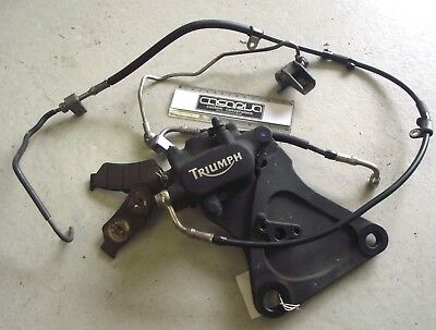 Triumph Rocket III Rear Brake Caliper with Pads, Master Cylinder and Mounting