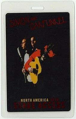 Simon & Garfunkel authentic 2009 Laminated Backstage Pass Old Friends Tour
