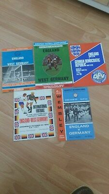 5 England V Germany Football Programmes
