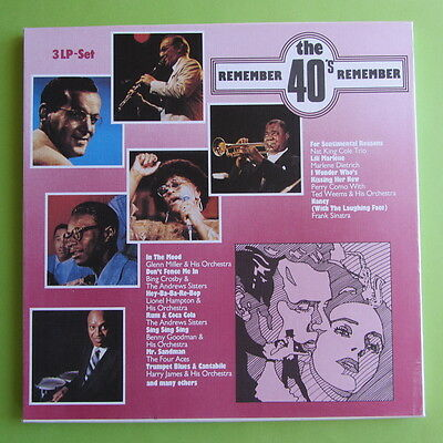 "3 LP REMEMBER THE 40´s THOSE FABULOUS FORTIES SCANA 9025 12"" VINYL SCHALLPLATTEN"