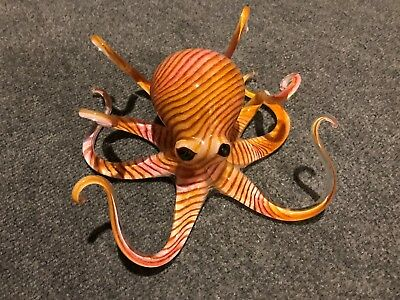 Glass Octopus Sculpture...Beautiful and Made in USA