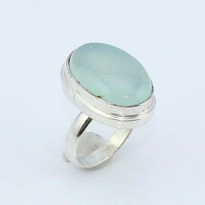 Chalcedony Fashion Jewelry  .925 Silver Plated Ring 7 S8233