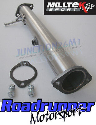 "Focus RS MK2 Milltek Decat Pipe 3"" Stainless Steel Exhaust Removes Cat (09-11)"