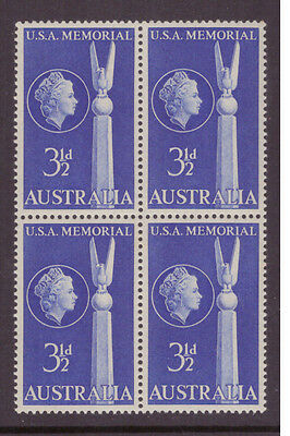 Australia 1955 Battle of the Coral Sea  SG283 block of 4 mint   stamps