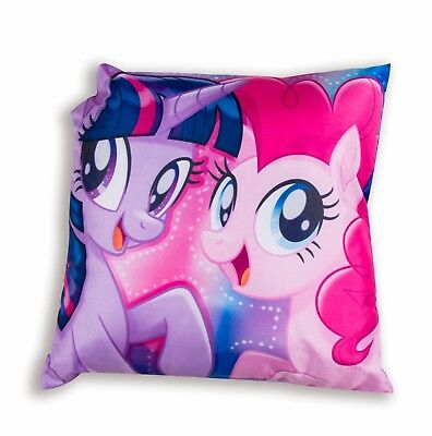 New MY LITTLE PONY Cushion Pillow Girls Kids Childrens Pink Purple Bedroom Gift