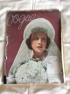 Vogue Magazine 6 March 1935, Vintage Fashions