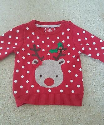 girls 12-18 months christmas jumper