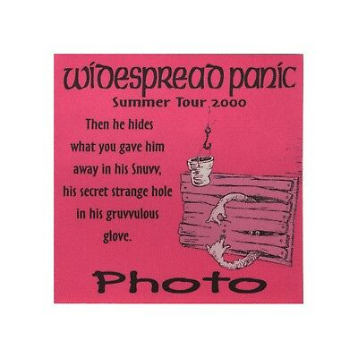 Widespread Panic authentic 2000 Summer tour satin Backstage Pass photo