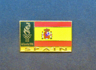 Spain Flag Pin - Souvenir  - Atlanta Centennial Summer Olympics