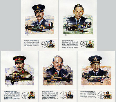 RAF Royal Air Force Aircraft Prints & Stamps 1986 limited edition Great Britain