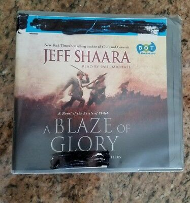 A BLAZE OF GLORY by JEFF SHAARA ~ UNABRIDGED CD'S AUDIOBOOK ex-library