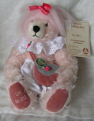 SUPERB HERMANN TEDDYBEAR URSULA'S BIRTHDAY BEAR limited 500 no.12 all labels