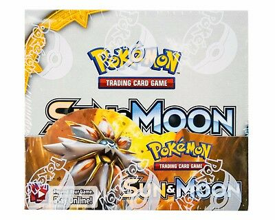 Pokemon Sun and Moon Booster Box Sealed 36 Packs!