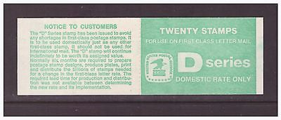 USA 1985 Booklet Eagle D For Domestic Use Nature mint stamps complete ,open