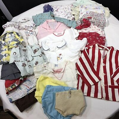 Lot of 22 Vintage 1950s Children's Clothes Boys Girls Shirts Shorts Pajamas More