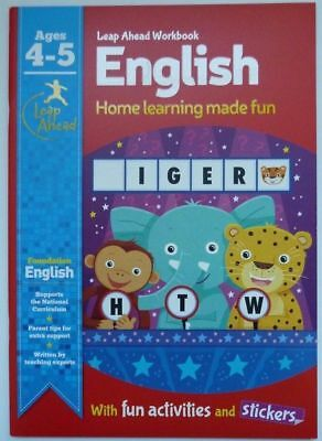 New Leap ahead workbook English And Maths Age 4-5 with activities and stickers
