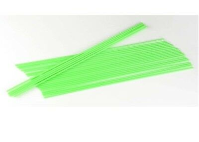 "NEW Dubro Standard size Neon Green 12-1/4x1/8"" Antenna Tube (24pcs) 2357"