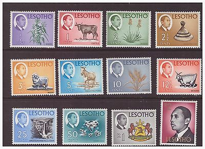 Lesotho 1967  National Products and Sightseeing King mint hinged set SG125-152