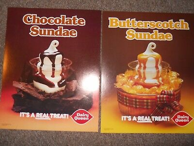 antique dairy queen advertising  posters 1980